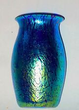 Loetz Cobalt Papillon Cabinet Vase