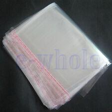 200pcs 16 x 24cm Clear Seal Sealable Poly Plastic Polyethylene PP Bags Flat DE