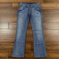 Hudson Womens Size 28 Medium Wash Boot Cut Denim Jeans Stretch Flap Pockets