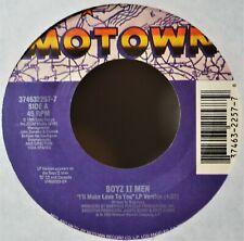 "Boyz II Men I'll Make Love to You EX/VG 45 7"" Vinyl & Jukebox Strip R&B 90's"