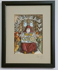 Book of the secrets of alchemy from 16th C woodcut - painted by Adam McLean