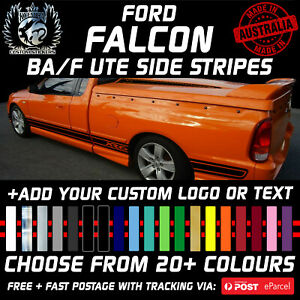 PAIR BA BF FORD FPV FALCON XR6 XR8 UTE SIDE STRIPES CUSTOMIZED STICKERS