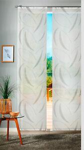 Flächenvorhang Raumteiler Schiebevorhang Gardine Olaf transparent / 2 Farben