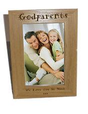 Padrini legno Photo Frame 6x8-personalizzare questo riquadro-INCISIONE GRATUITA