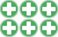 Kit 6x Adesivi adesivo sticker segnaletica pronto soccorso emergenza