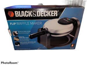 BLACK+DECKER Belgian Flip Waffle Maker, Black/Silver, WM1404S