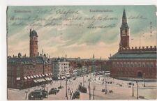 Denmark, Kobenhavn, Raadhuspladsen 1906 Postcard, B240