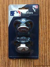 Arizona Diamondbacks Pacifiers 2 Pack Set Infant Baby Fanatic BPA Free MLB