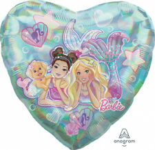 Barbie Mermaid Party Supplies Decorations 5pc Holographic Balloon Bouquet