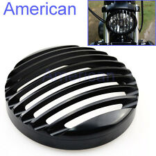 """5-3/4"""" CNC Headlight Grill Cover For Harley Sportster XL 883 XL1200 2004-2014"""