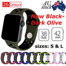 Sports Silicone Bracelet Strap Band For Apple Watch iWatch Series 3,2,1_38/42mm