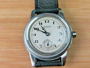 Vintage J W Benson (Cyma Cal 234) Mens Early Waterproof Watch Working, See Notes