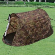 vidaXL 2-Person Pop-up Camping Hiking Tent Camouflage Outdoor Family Trip