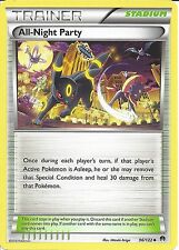 POKEMON XY BREAK-POINT - TRAINER CARD - ALL-NIGHT PARTY 96/122