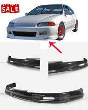 For Honda 92-95 EG Mugen Front Bumper Lip Glossy Spoiler Carbon Fiber Wing Kits