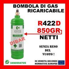 GAS REFRIGERANTE R422D DA 1 LITRO NETTO 850 GRAMMI SOSTITUTO R22 CLIMATIZZATORI