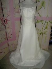 """WEDDING DRESS"" Unknown Brand, White, Size 12, Beading, Long Sheer Train, Beauty"