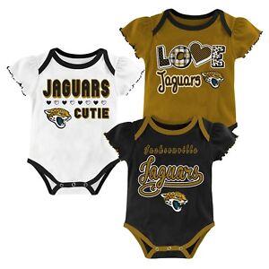 NWOT Jacksonville Jaguars Girls Infant Bodysuit Onesie Baby Jersey Shirt Gerber