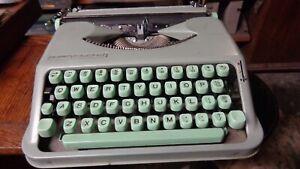 Vintage Hermes Rocket Green Typewriter Estate Find