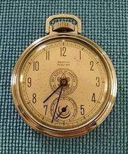 Westclox SERVICED 1957 Boy Scouts of America Pocket Watch VERY RARE Dollar Watch