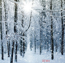 100% Polyester Winter Snow Forest Photography Background 5x7FT Studio Backdrop