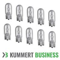 10x T10 W5W 5W 12V W2,1x9,5d Glüh Lampe Birne Glassockel Standlicht PKW