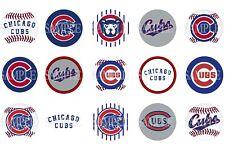 15 Pre-Cut Chicago Cubs 1 Inch Bottle Cap Images