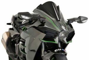 Puig Racing Windscreen Black #7631N Kawasaki Ninja H2 R/Ninja H2 2015-2020