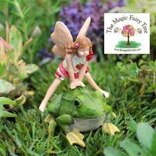 Leapfrog Lori miniature fairy and frog figurine (Leap Frog Lori) fairies garden
