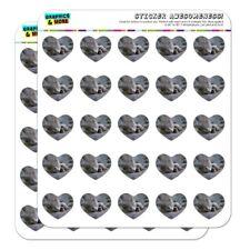 Gray Domestic Shorthair Kitten Cat Fur Heart Planner Scrapbook Craft Stickers