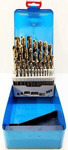 "Presto HSCo 8% Cobalt 29Pc Jobber Drill Set Imperial Sizes 1/16-1/2"" x 1/64"""