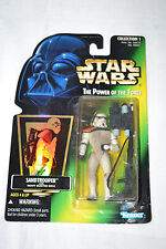 Kenner 1996 Star Wars POTF Sandtrooper Hologram Green Card NEW Action Figure