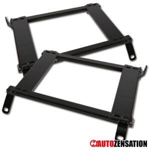 Fit Nissan 1989-1998 240SX S13 S14 2Dr Racing Seats Mounting Brackets Rail Track