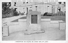 Cadiz Ohio~Proudest Small Town Plaque~Clark Cable~General George Custer~1938