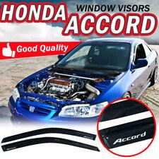 For 98-02 Honda Accord Coupe 2Dr Acrylic Smoke Slim Style Tape On Window Visors