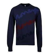 Mens Money Navy Triple Sig Crew Neck Sweatshirt Medium CS076 NN 08