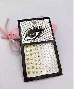 Gold Crystal Temporary Tattoo Sticker Face & Body Jewels Pink Purple Mini M4