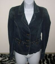 TOMMY HILFIGER JEANS BLUE DENIM JEAN CROP JACKET WOMENS COAT JACKET SIZE MEDIUM
