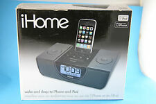 IHOME IP42 DUAL ALARM CLOCK DOCK FOR iPod AND iPhone
