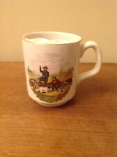 Lord Nelson Pottery Mustache Mug with Hunters and gold