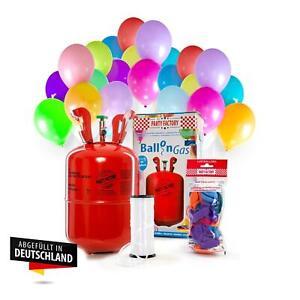 Ballongas Helium im Set mit 30 Luftballons, Einwegflasche 0,2m³ Heliumflasche