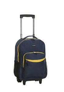 School Wheeled Backpack Luggage 17 Inch Rolling Travel Carry On Boys Girl