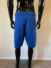 Mens Lululemon Royal Blue & Black Polka Dot Print Casual Cotton Shorts Size 40