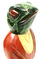 Folk Art Frog Hand Carved Hand Painted Wooden Guatemala.