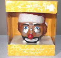 Emmitt Kelly Jr. Weary Willie Clown European Style Molded Glass Ornament Flambro