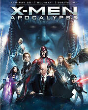 X-Men: Apocalypse (Blu-ray Disc, 2016, 3D)