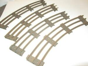 LIONEL PRE-WAR - 4 SECTIONS STANDARD GAUGE CURVED TRACK-SUPER SALE- - RUSTED-
