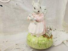 Schmid Music Box Beatrix Potter Tale Of Timmy Tiptoes 1981 Plays Nicely
