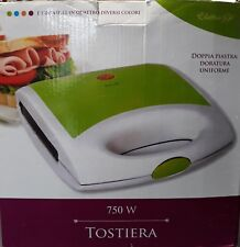 TOSTIERA tostapane ELETTRICA 750W doppia piastra.