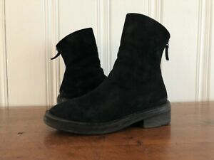 marsell womens size 38.5 zip-back black high ankle boot